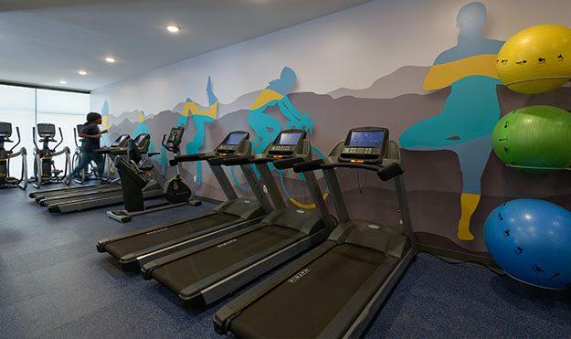 Expansive Fitness Center