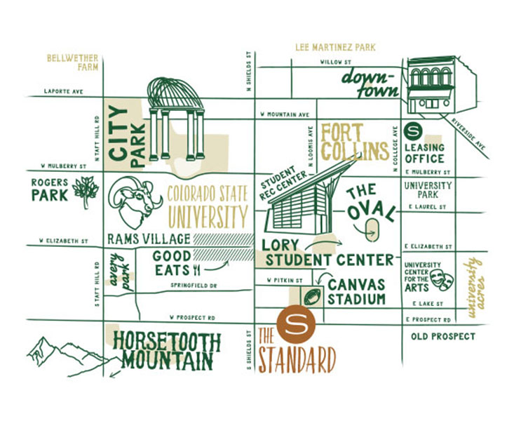 Map of The Standard at Fort Collins